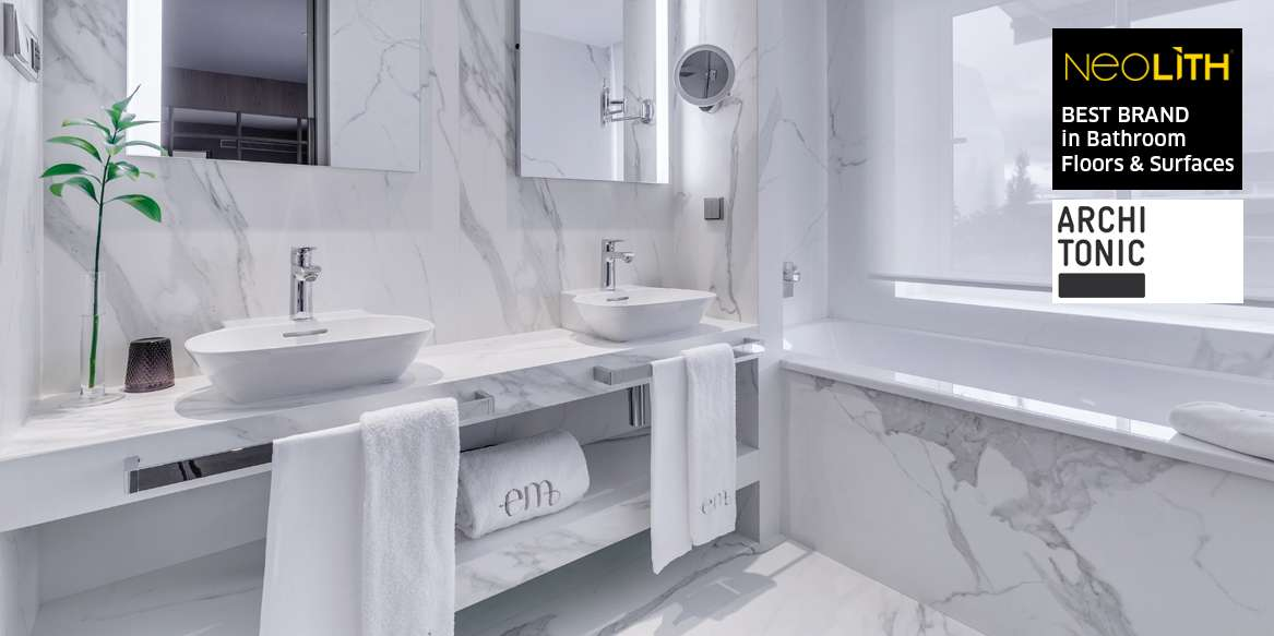 "Neolith, chosen as ""Best Surface for Bathroom"""
